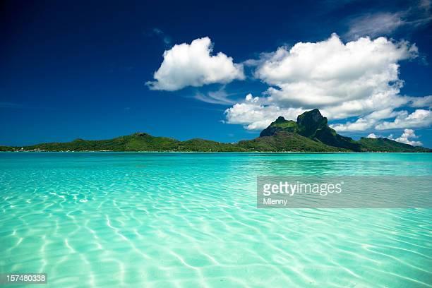 bora-bora perfect paradise island - tahiti stock pictures, royalty-free photos & images