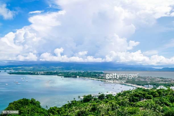 boracay beach and sea scene philippines - bundesstaat new south wales stock-fotos und bilder