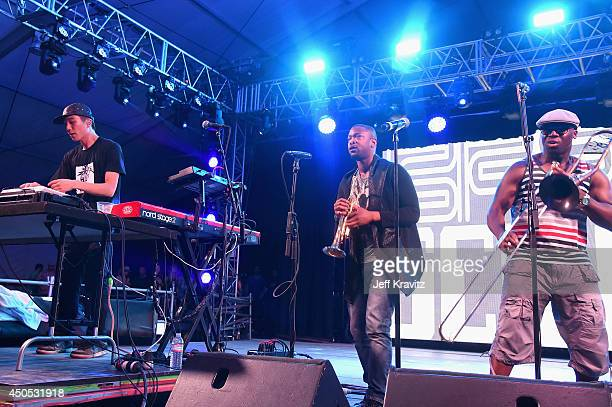 Borahm Lee of Break Science performs onstage at The Other Tent during day 1 of the 2014 Bonnaroo Arts And Music Festival on June 12 2014 in...
