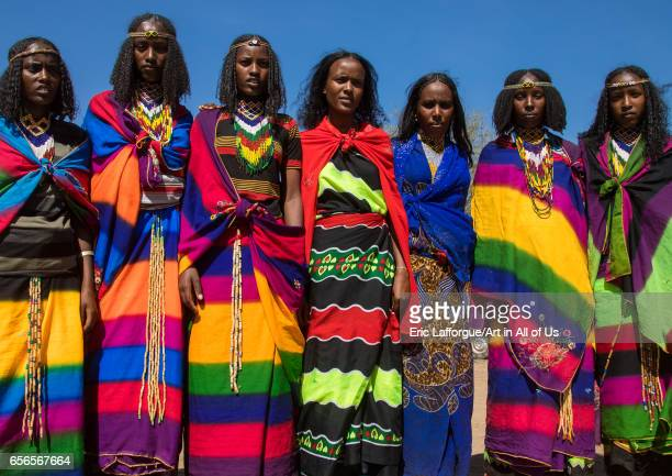 Borana tribe virgin girls during the Gada system ceremony Oromia Yabelo Ethiopia on March 7 2017 in Yabelo Ethiopia
