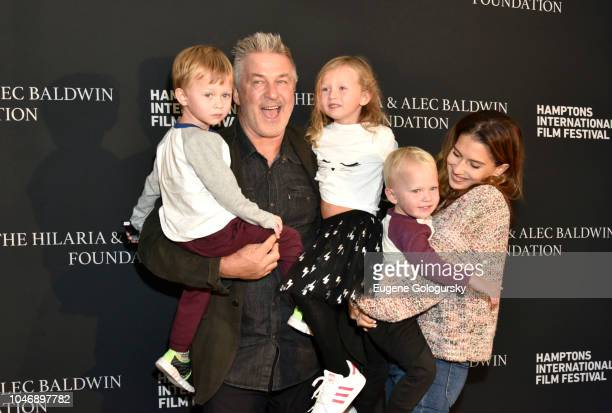Bord of Directors CoChair Alec Baldwin Hailaria Baldwin and their children attend the red carpet and Chairman's Reception at Suna Residence during...