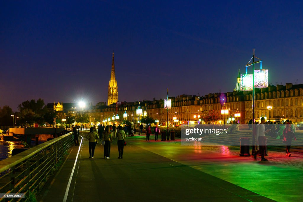 Bordeaux at dusk : Stock Photo