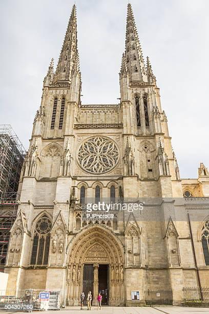 bordeaux - cathédrale saint-andré - pjphoto69 stockfoto's en -beelden