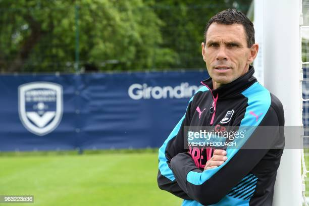 Bordeaux' football team Uruguayan head coach Gustavo Poyet poses on May 15 2018 in Le Haillan western France during a team training session