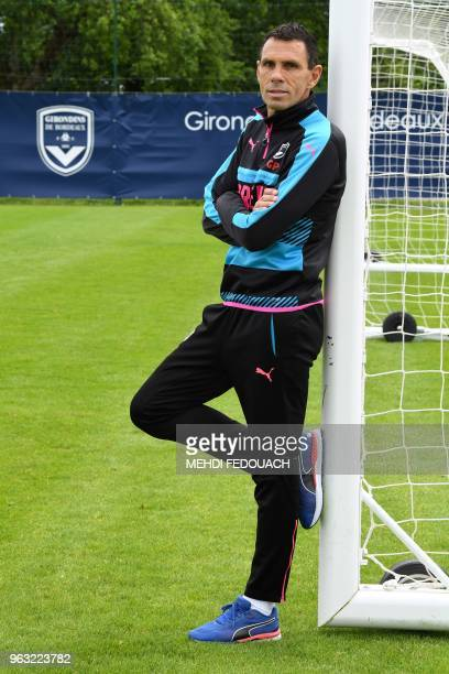Bordeaux' football team Uruguayan head coach Gustavo Poyet poses on May 15, 2018 in Le Haillan, western France, during a team training session.