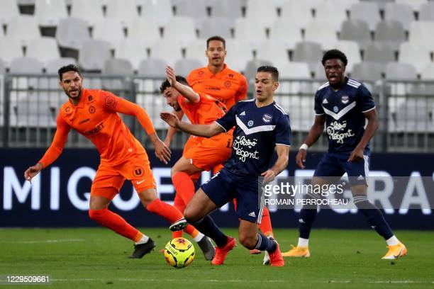 Bordeaux' French midfielder Hatem Ben Arfa controls the ball during the French L1 foobtall match between Bordeaux and Montpellier on November 7, 2020...