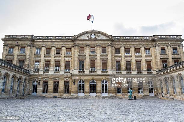 bordeaux - hotel de ville - pjphoto69 stock pictures, royalty-free photos & images