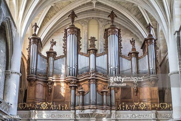 bordeaux - pipe organ of cathédrale saint-andré - pjphoto69 stockfoto's en -beelden