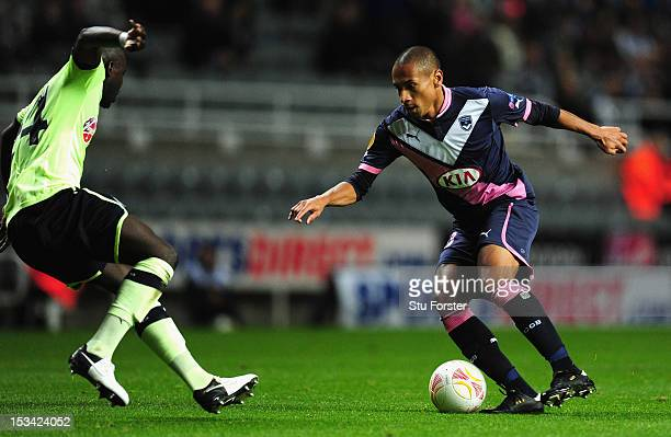 Bordeaux player Jussie in action during the UEFA Europa League match between Newcastle United and FC Girondins de Bordeaux at Sports Direct Arena on...