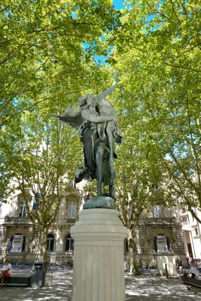 """Bordeaux statue """"Gloria Victis"""" erected in honor of the vanquished of 1870"""