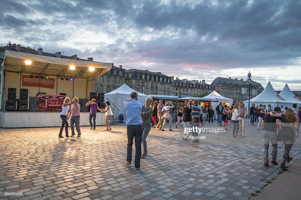 Bordeaux - Summer dancing festival : Stock Photo