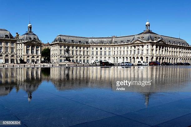the quays 'place de la Bourse' square in the heart of the city Water mirror