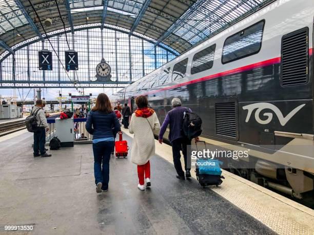 bordeaux train station, france - tgv photos et images de collection