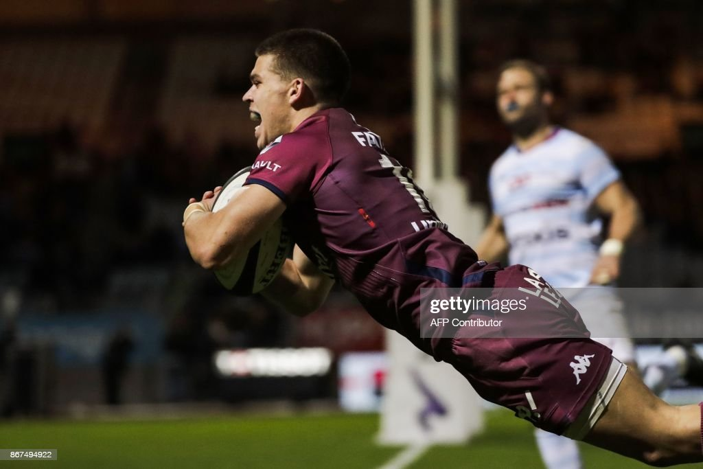 RUGBYU-FRA-TOP14-RACING-BORDEAUX : News Photo