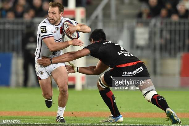 BordeauxBegles' New Zealand centre Jayden Spence runs wuth the ball during the French Top 14 rugby union match between BordeauxBegles and Toulouse on...