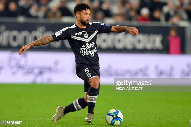 Bordeaux's Brazilian midfielder Otavio drives the ball during the French L1 football match between FC Girondins de Bordeaux and Nimes at the Matmut...