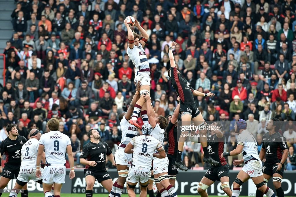RUGBYU-FRA-TOP14-TOULOUSE-BORDEAUX : News Photo