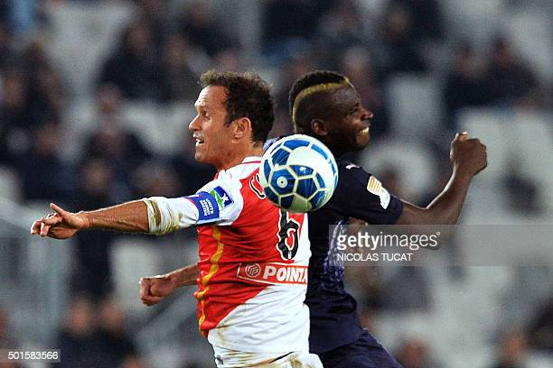 Bordeaux's Malian forward Cheick Diabate vies with Monaco's Portuguese defender Ricardo Carvalho during the French League Cup football match between...