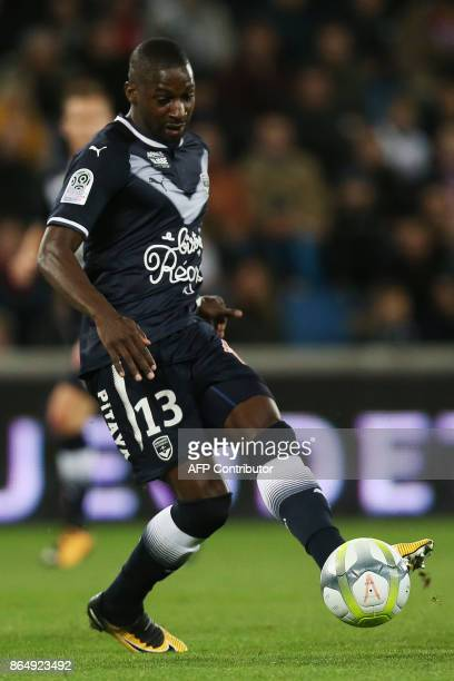 Bordeaux's Senegalese midfielder Younousse Sankhare controls the ball during the French L1 football match between Amiens and Bordeaux on October 21...