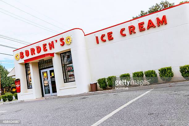 borden's ice cream parlor. - lafayette louisiana stock pictures, royalty-free photos & images