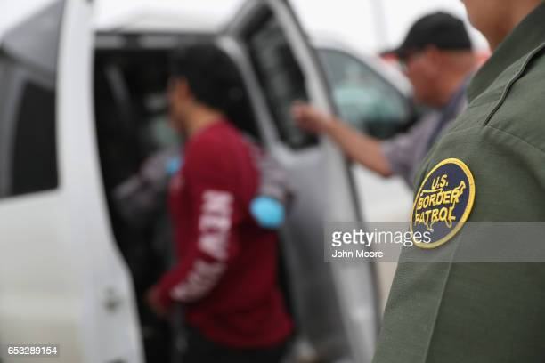 S border agents detain an undocumented immigrant caught near the USMexico border on March 13 2017 in Roma Texas The Border Patrol has reported that...