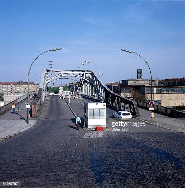 Border checkpoint Bornholmer Straße between West Berlin Wedding and East Berlin Prenzlauer Berg undated