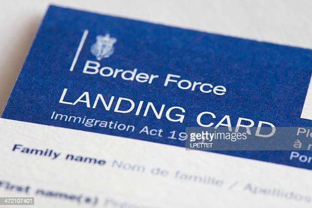 Border Force Landing Card