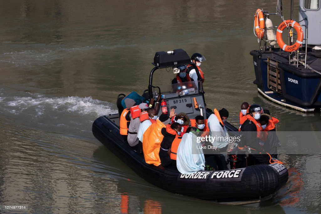 Migrants Attempt Final Channel Crossings Ahead Of Weather Change : News Photo