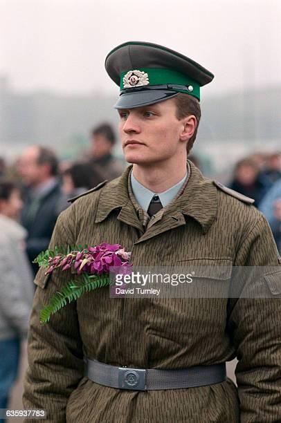 Border Guard at Opening of Berlin Wall