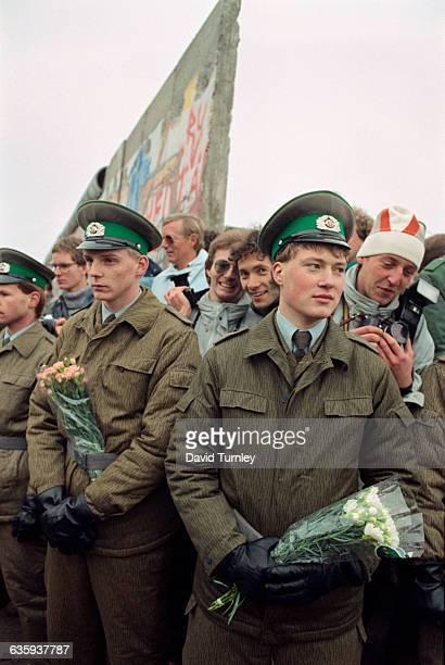 Border Guards at Opening of Berlin Wall