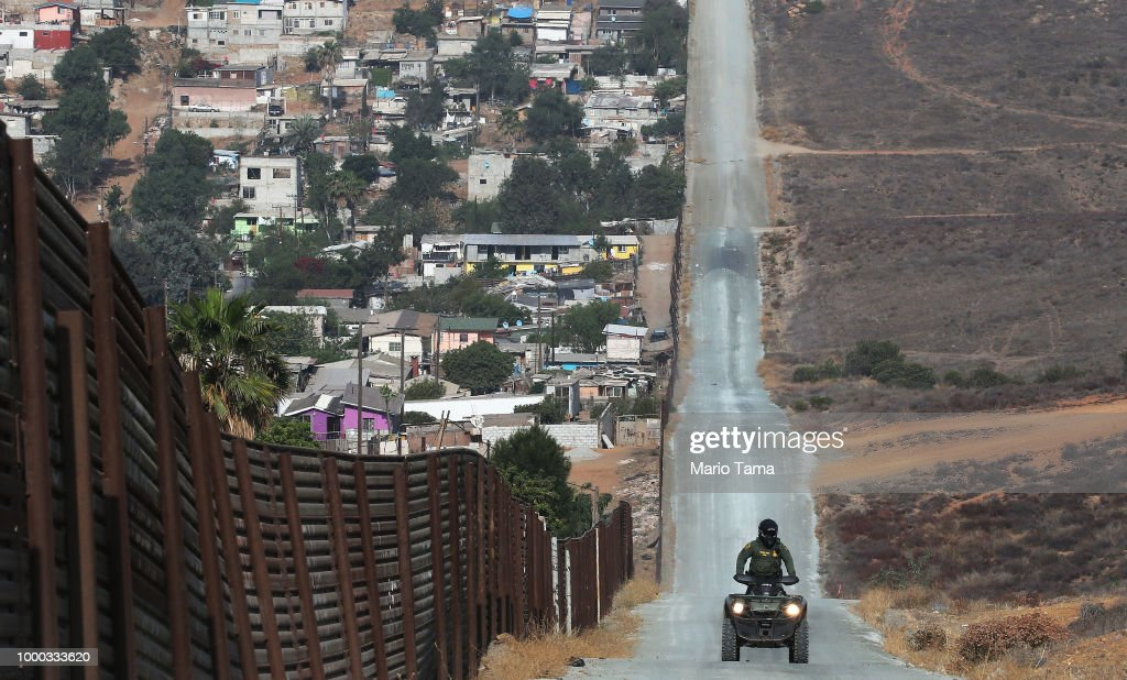 U.S. Border Patrol Monitors California-Mexico Border