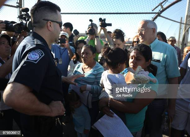 S Border Patrol agent Ray Provencia informs Angelica and Karla along with Ruben Garcia director of the Annunciation House who was helping them cross...