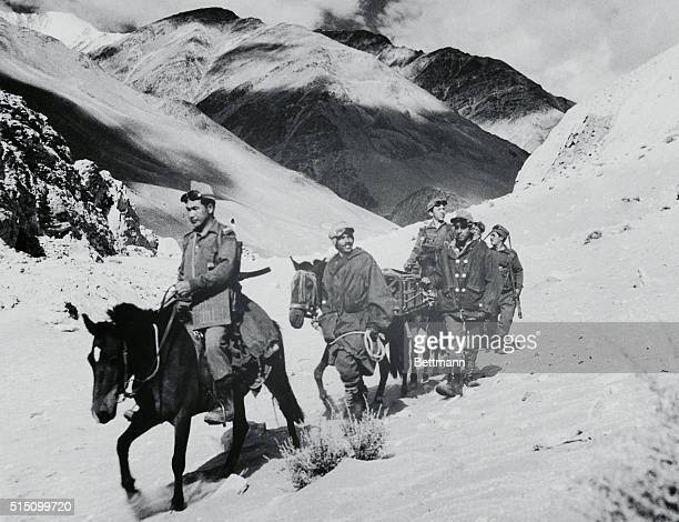 Border Patrol Ladakh India A high altitude border patrol of Indian Army scout along the Ladakh region which is located close to the Chinese ruled...
