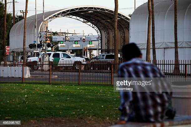 A Border Patrol sports utility vehicle sits at the US Border Inspection Station crossing in Calexico California US on Monday Oct 12 2015 Among...