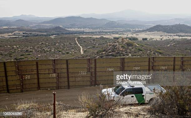 A Border Patrol vehicle along the USMexico border in Campo California on November 17 2018