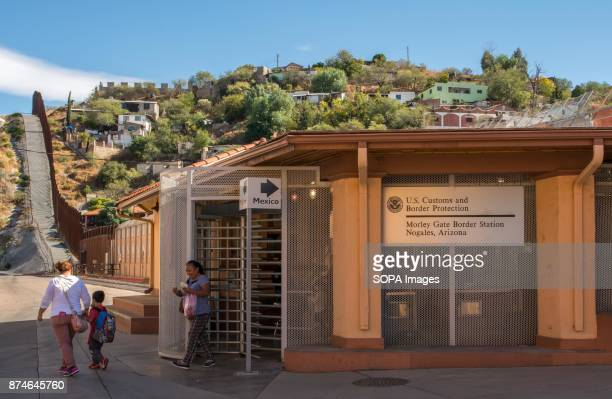 Border Station at the US Mexico border in the city of Nogales Arizona According to the US Customs and Border Protection there are at least 580 miles...