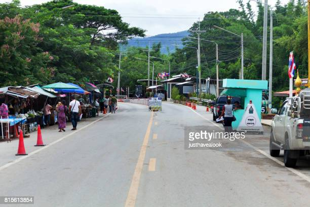 Border station between Thailand and Myanmar