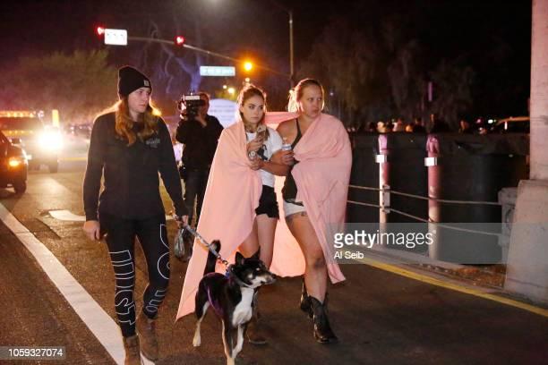 Borderline attendees leave the scene outside the shooting scene at the Borderline mass shooting on November 8 2018 in Thousand Oaks California Twelve...
