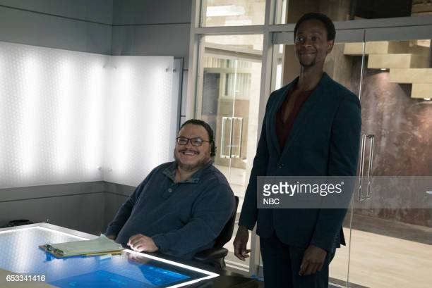 REDEMPTION 'Borealis 301' Episode 105 Pictured Adrian Martinez as Dumont Edi Gathegi as Matias Solomon