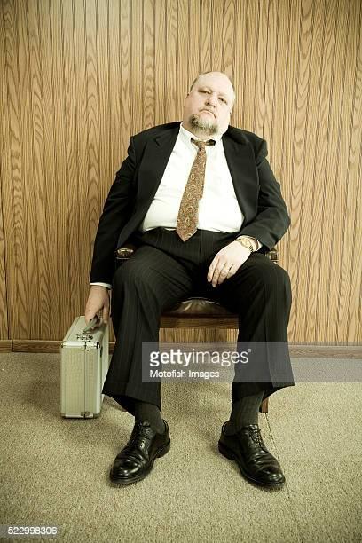 Bored Businessman Waiting