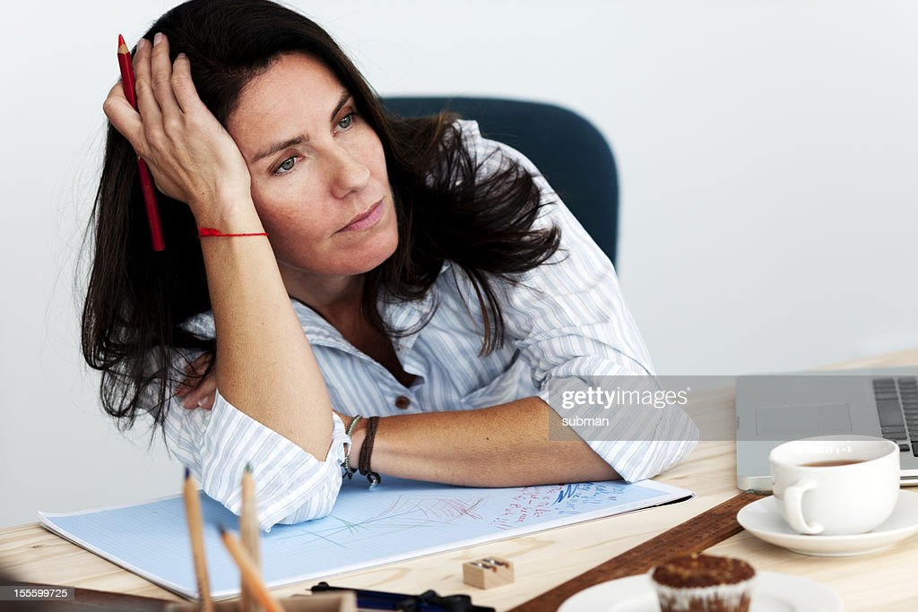 Bored office worker : Stock Photo