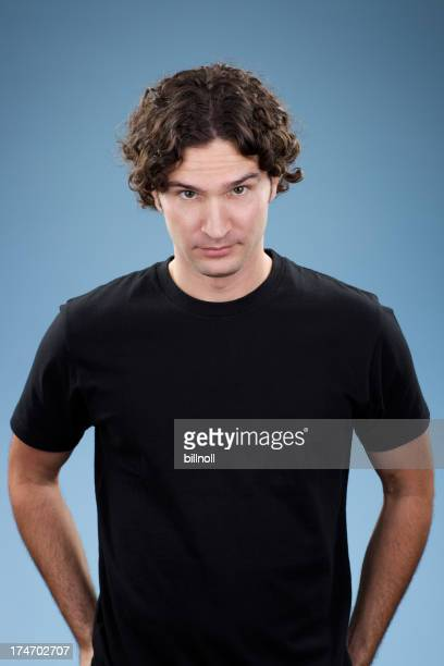 Bored young white male with black shirt