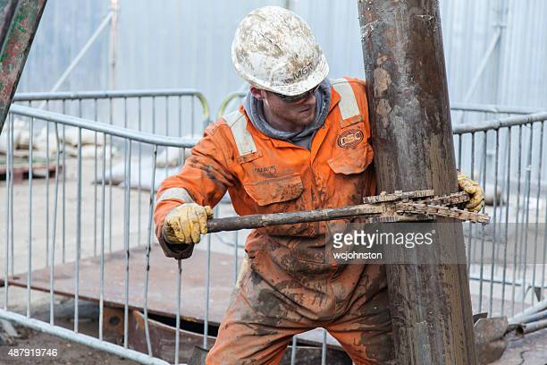 borehole drilling rig, - drill bit stock photos and pictures