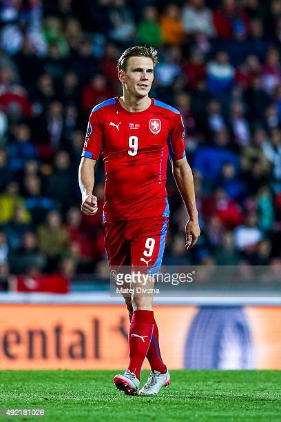 Borek Dockal of Czech Republic in action during the UEFA EURO 2016 Group A Qualifier match between Czech Republic and Turkey at Letna Stadium on...