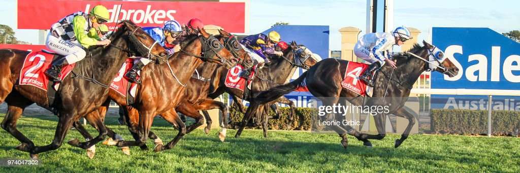 Borella ridden by Luke Nolen wins the Maffra Cup Day 1 July Gippsland Middle Distance Series Heat 5 at Sale Racecourse on June 14, 2018 in Sale, Australia.