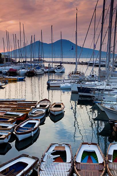 Borgo Marina and Mt. Vesuvius.
