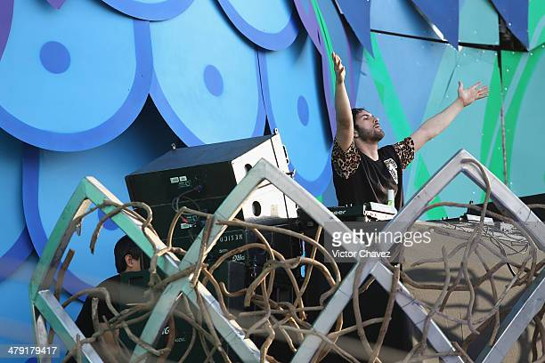 Borgore performs on stage during the day one of Electric Daisy Carnival 2014 at Autodromo Hermanos Rodriguez on March 15 2014 in Mexico City Mexico