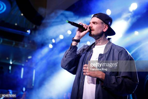 Boris Alexander Stein performs at the AIDAperla christening ceremony on June 30 2017 in Palma de Mallorca Spain