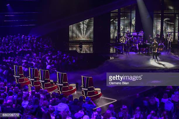 Boris Alexander Stein performs during the ''The Voice Of Germany' Finals' on December 18 2016 in Berlin Germany