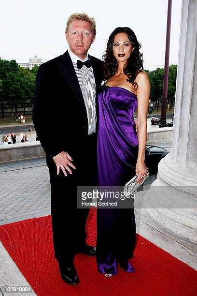 Boris and Lilly Becker attend the amfAR Gala Vienna 2010 as part of the Life Ball 2010 at Parliament Of Austria on July 17, 2010 in Vienna, Austria.